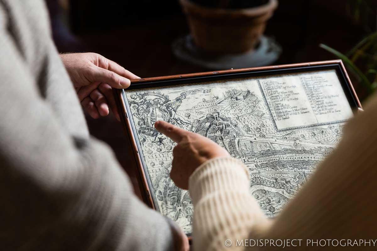 old maps at Casa dell'Abate Naldi