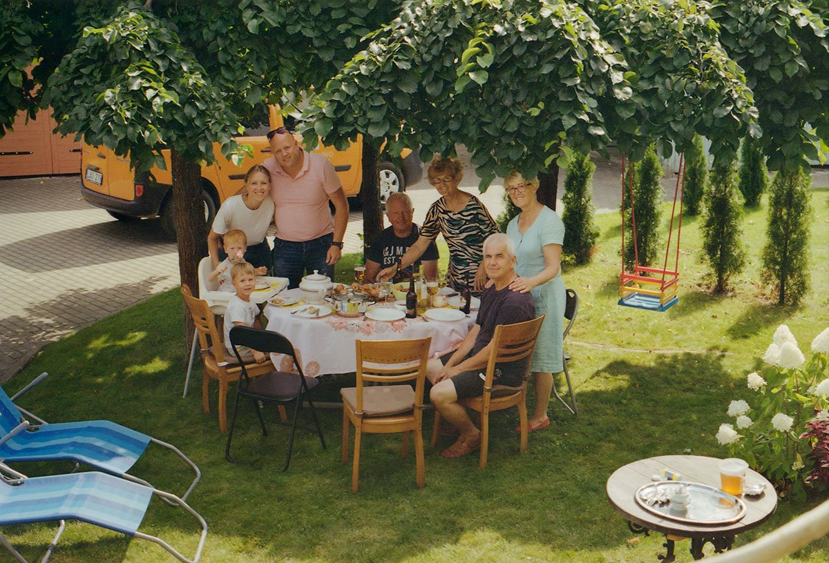 Lithuanian family lunch in the garden