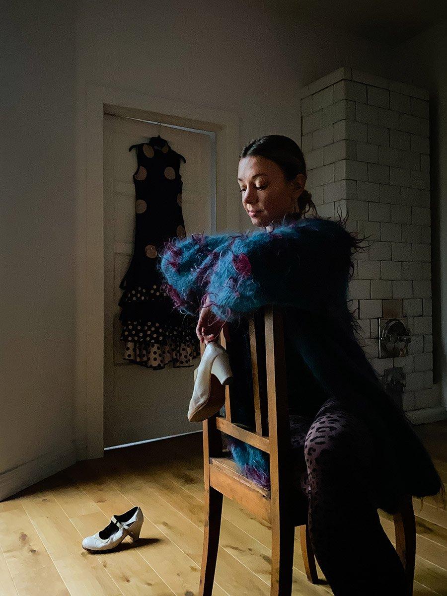 Remote portrait of a flamenco dancer