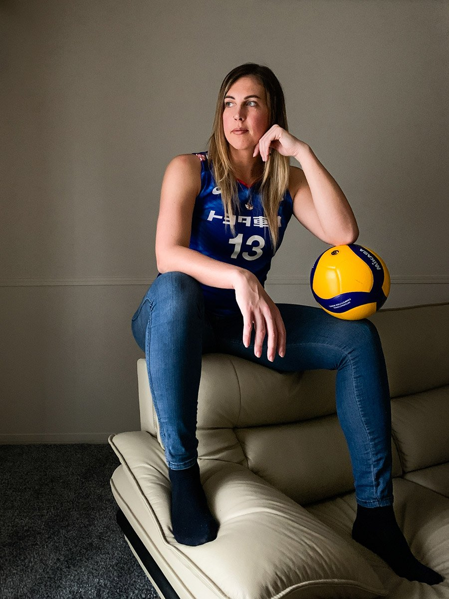 Italian Lithuanian volleyball player Indre Sorokaite