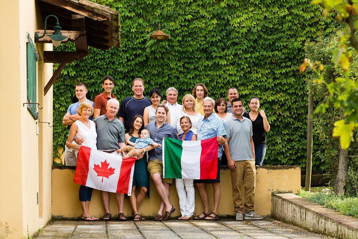 Canadian-Italian family reunion in Tuscany