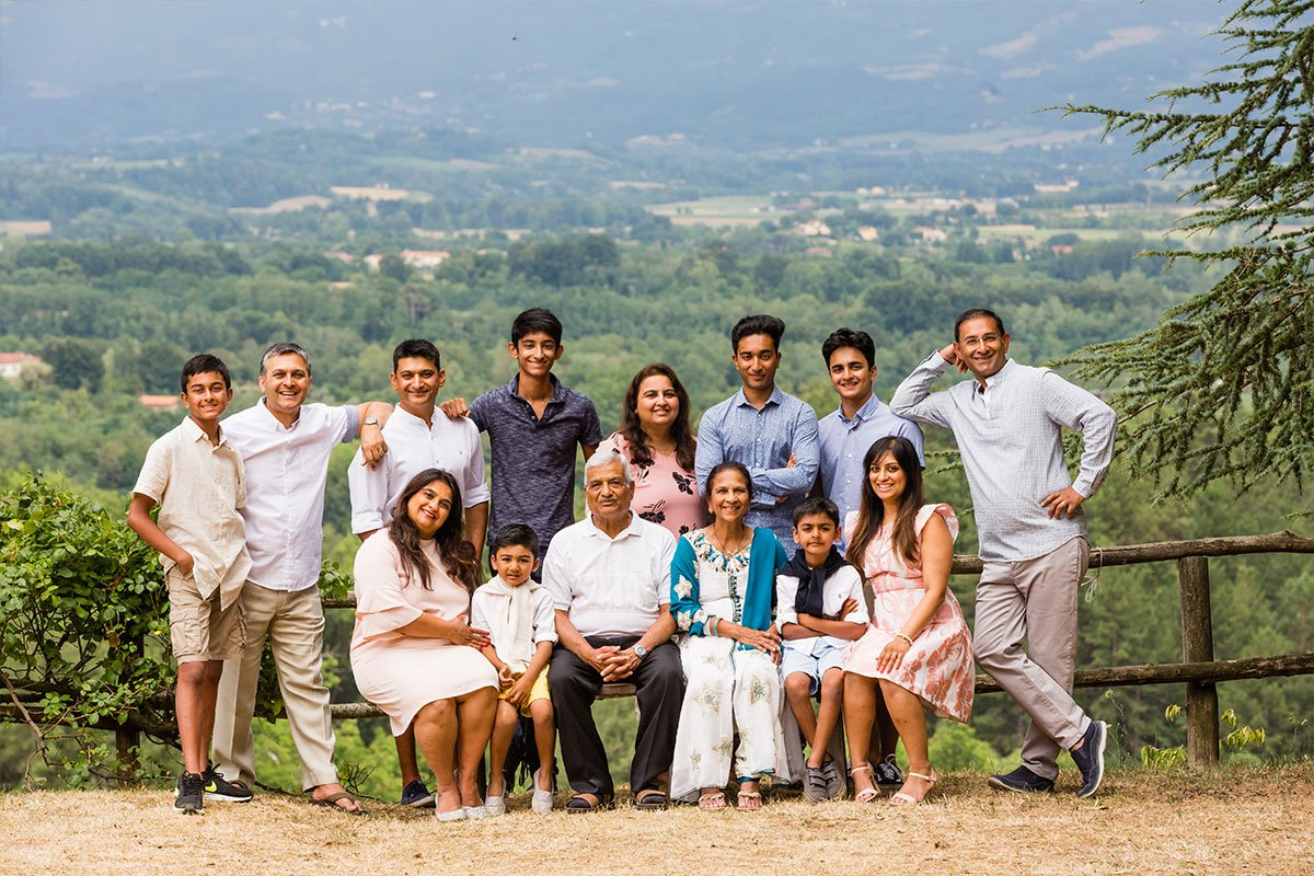 Indian family reunion in Tuscany