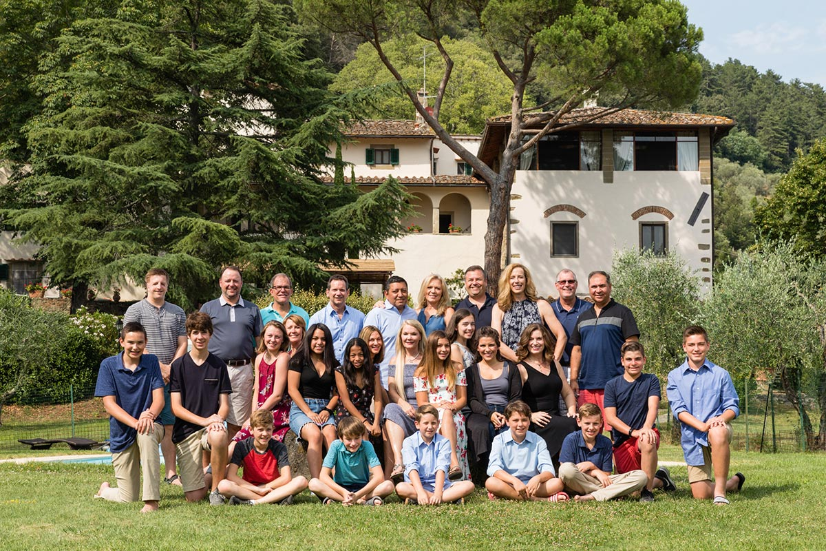 extended family gathering in Italy