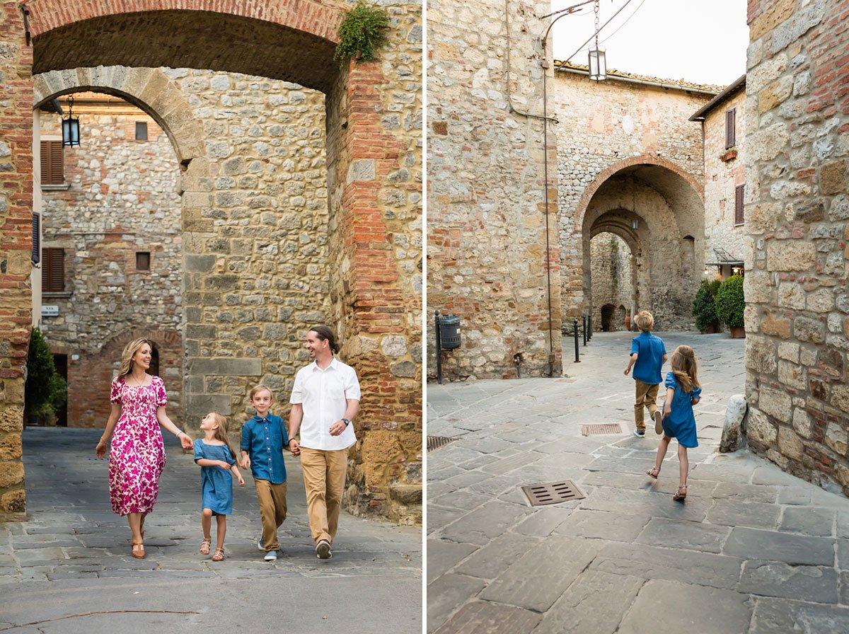 Family photoshoot in Montefollonico