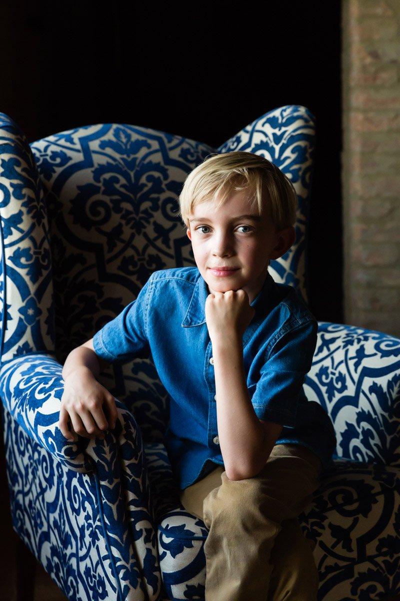 natural light indoor portrait of a kid