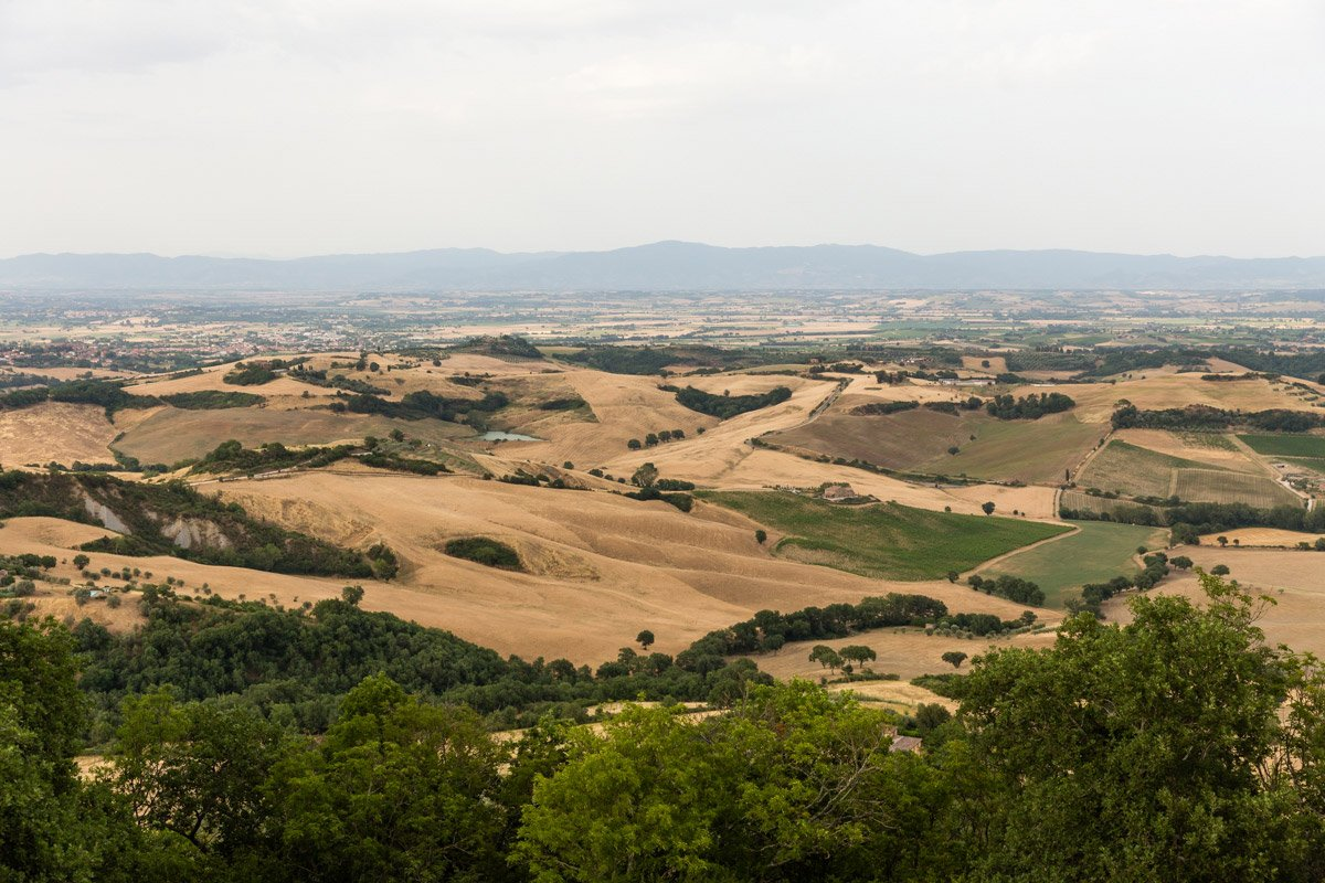 Val di Chiana view from Montefollonico