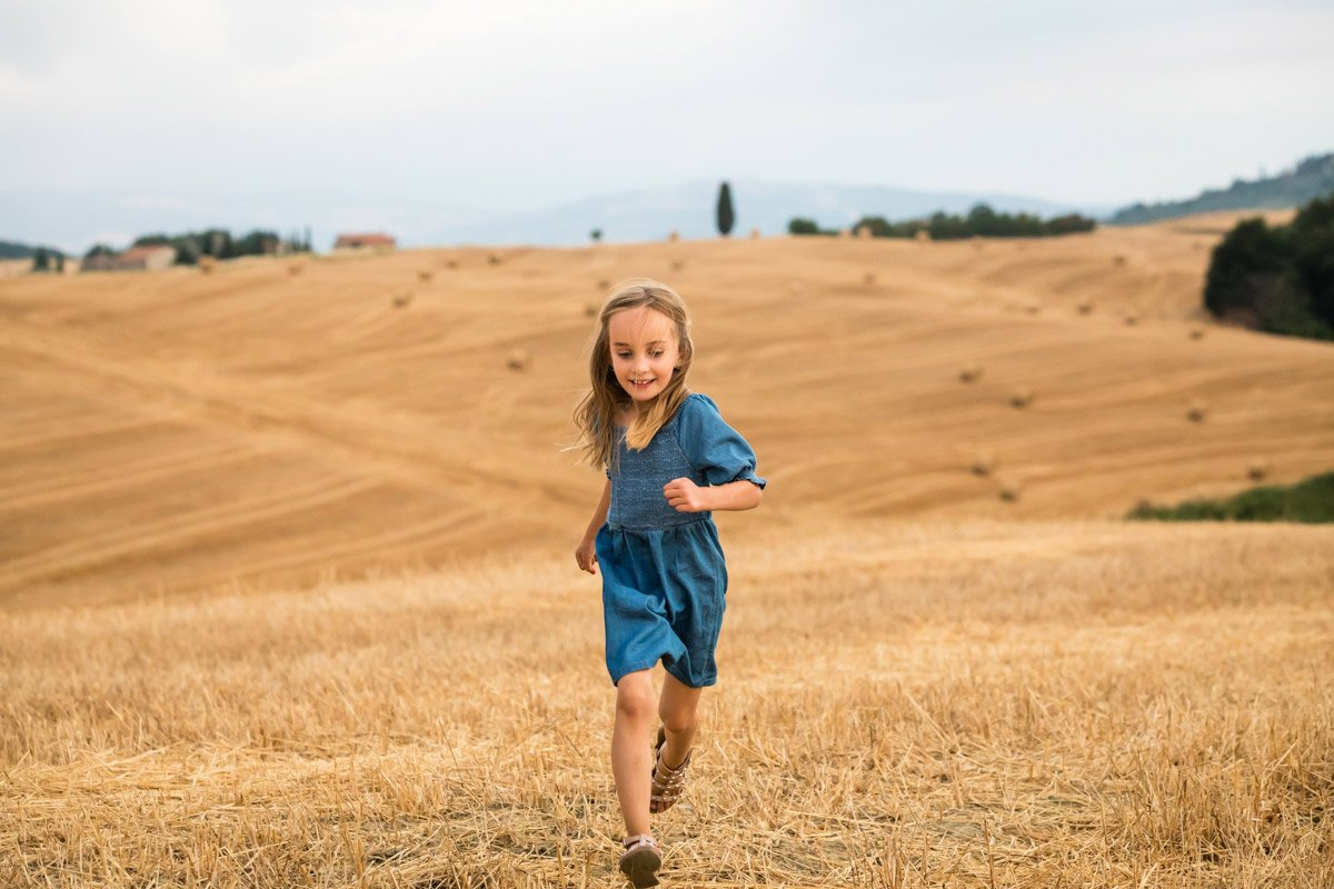 portrait of a girl on holiday in Tuscany