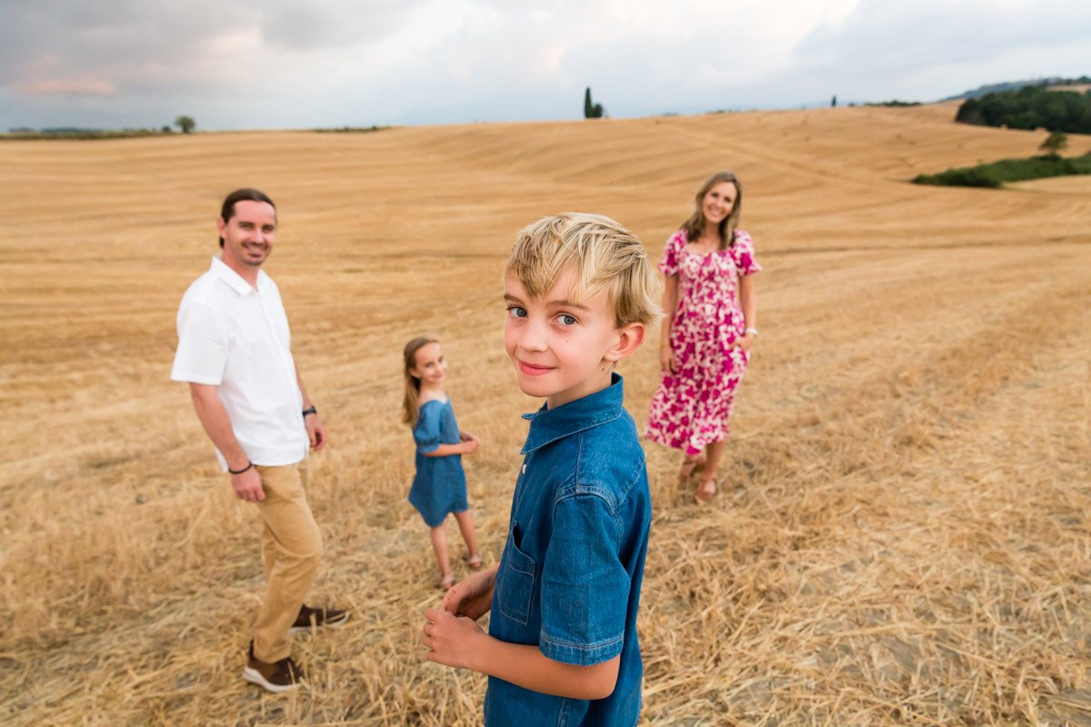 Family Photographers in Tuscany