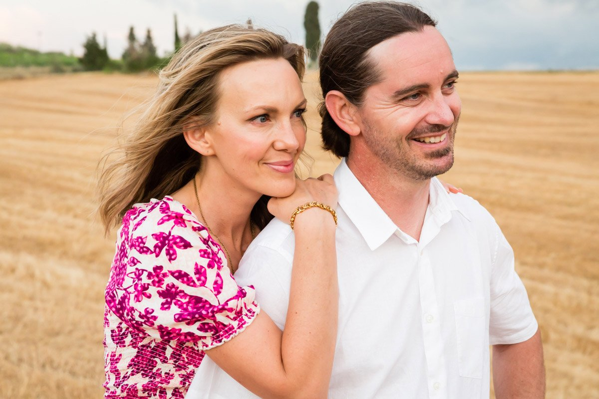 couple on holiday in Tuscany